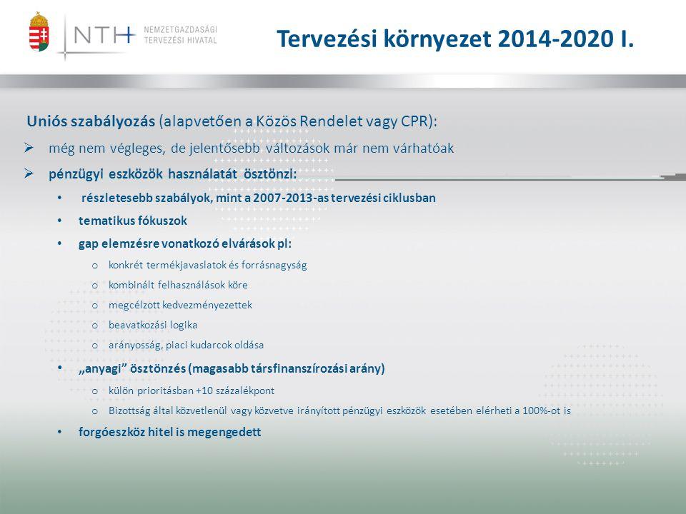 Tervezési környezet 2014-2020 I.