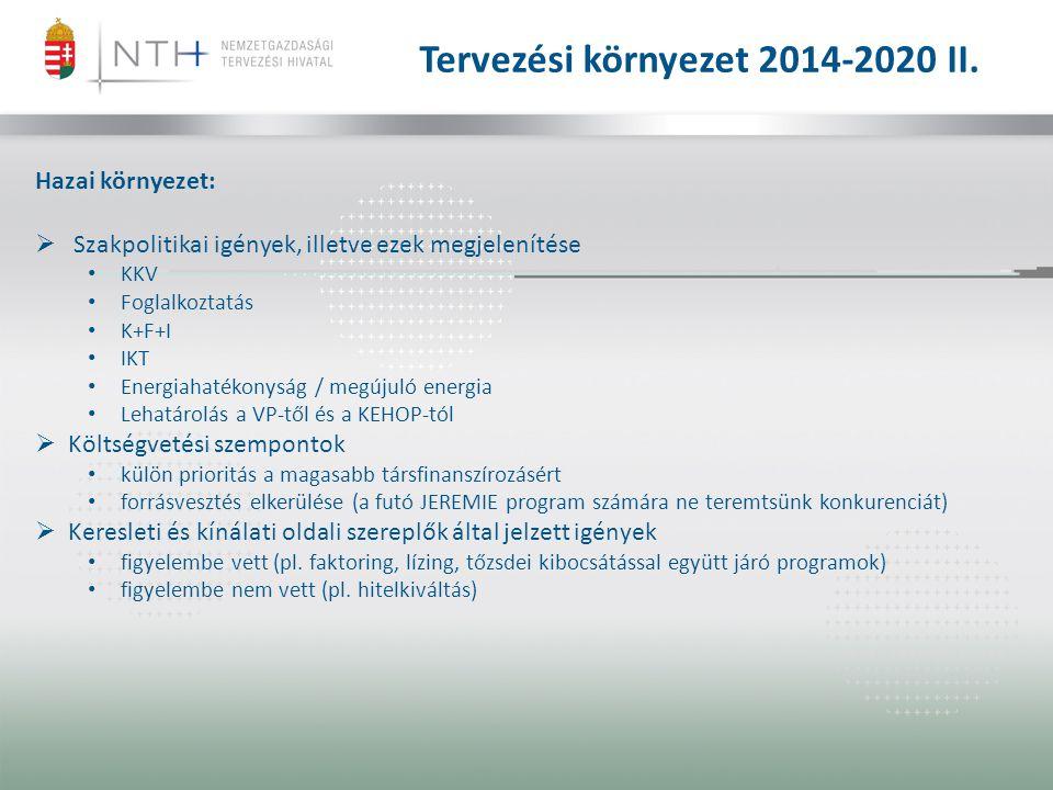 Tervezési környezet 2014-2020 II.