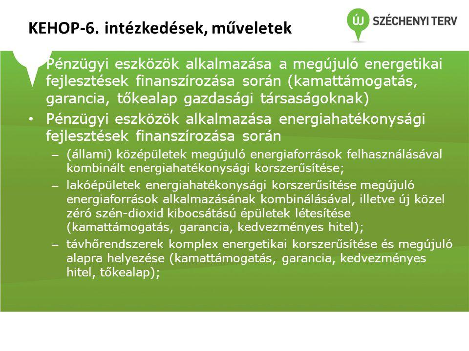 KEHOP-6. intézkedések, műveletek