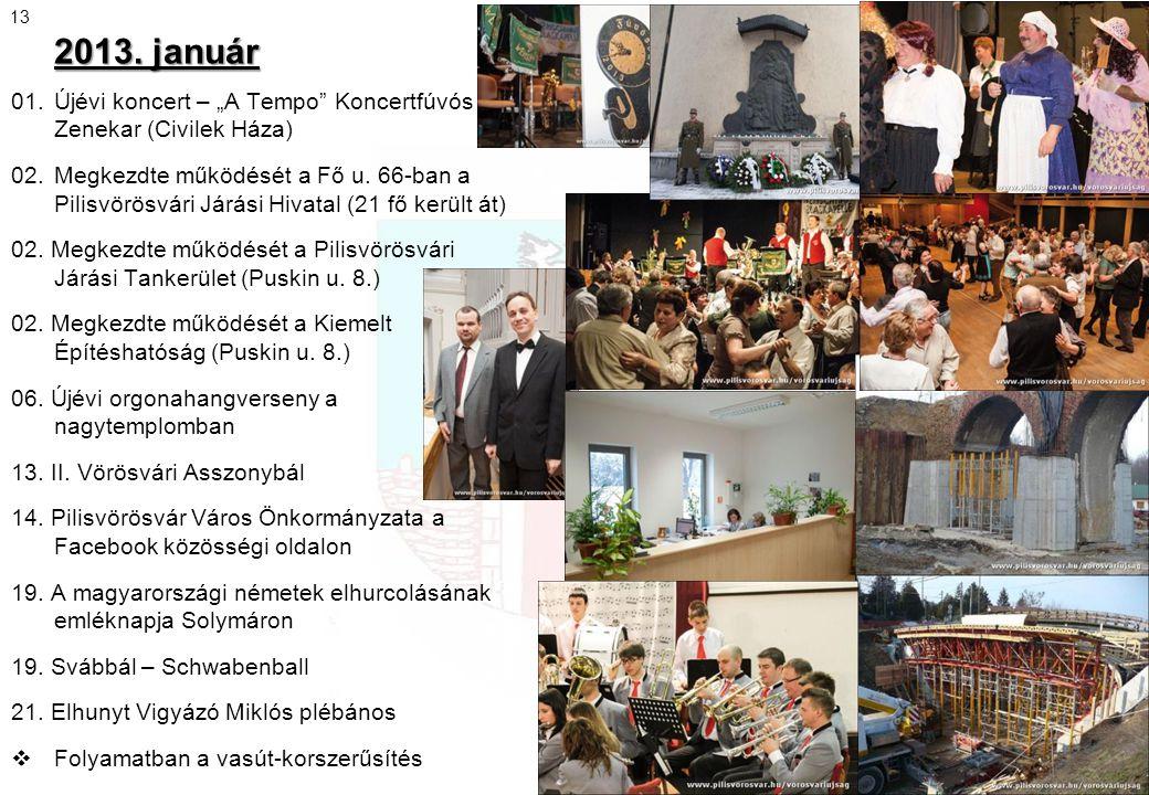 """2013. január 13. 01. Újévi koncert – """"A Tempo Koncertfúvós Zenekar (Civilek Háza)"""