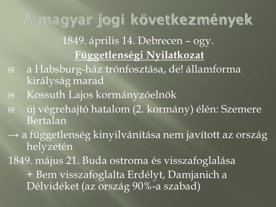 A magyar jogi következmények