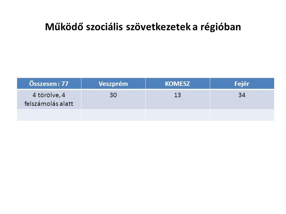 Működő szociális szövetkezetek a régióban