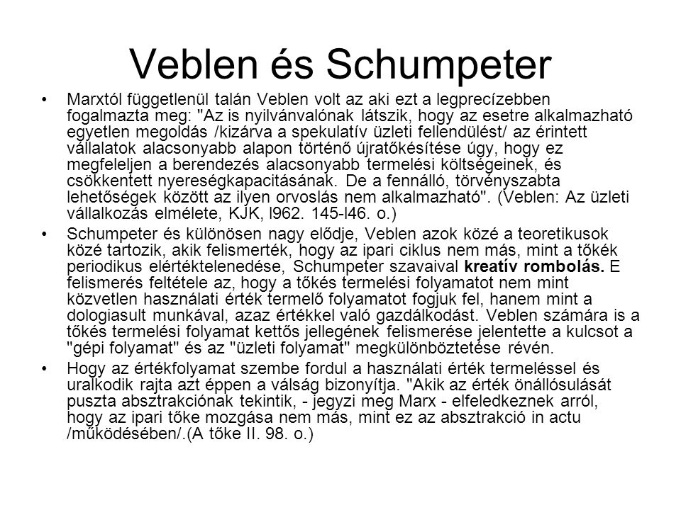 Veblen és Schumpeter