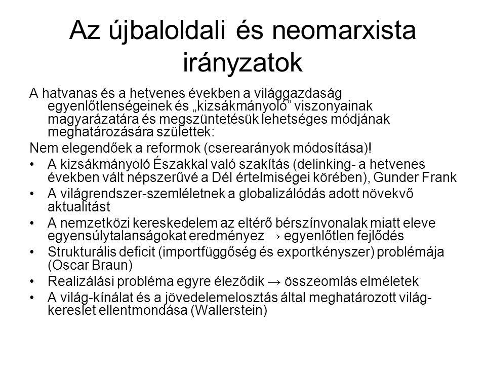 Az újbaloldali és neomarxista irányzatok