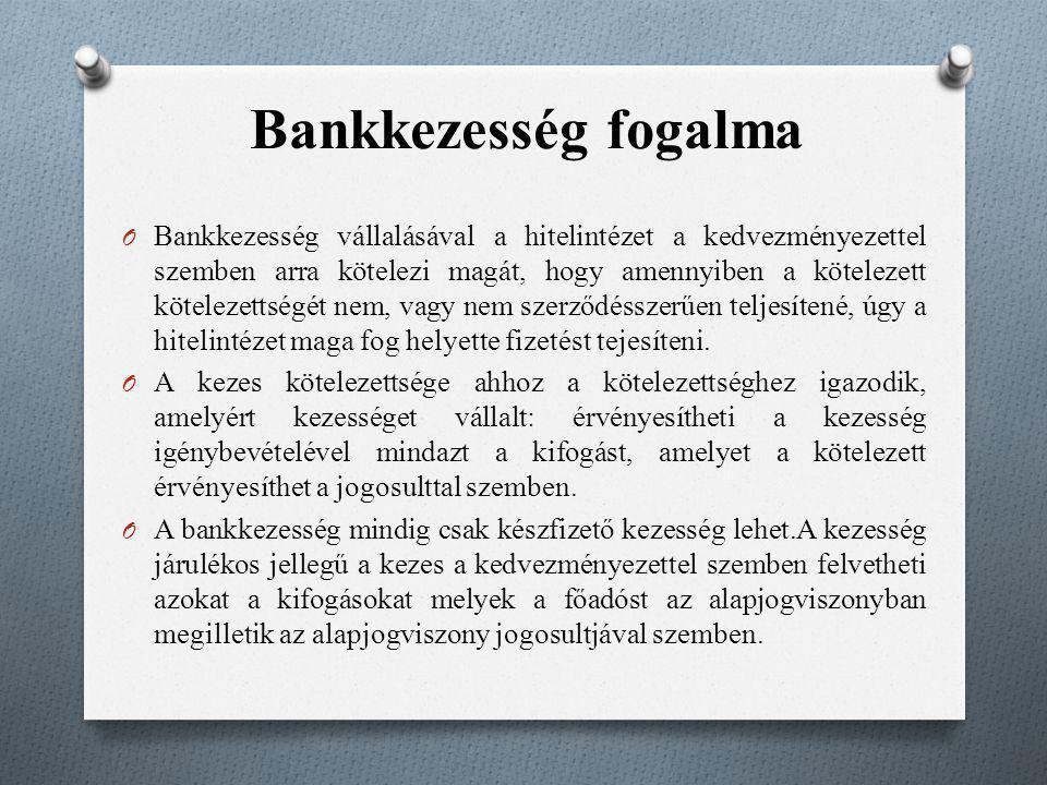 Bankkezesség fogalma