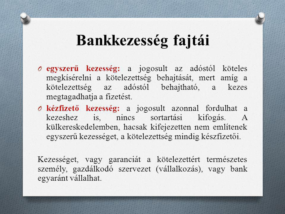 Bankkezesség fajtái