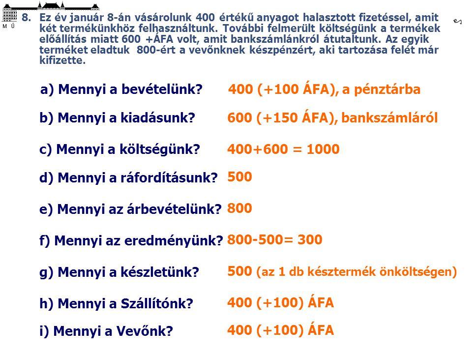 d) Mennyi a ráfordításunk 500
