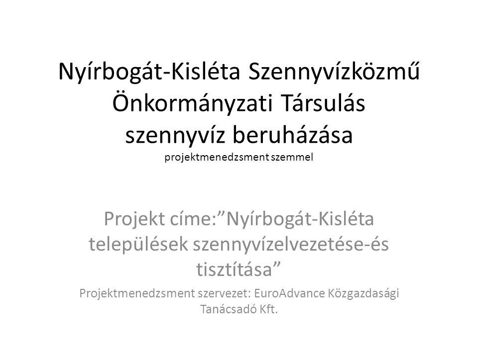 Projektmenedzsment szervezet: EuroAdvance Közgazdasági Tanácsadó Kft.