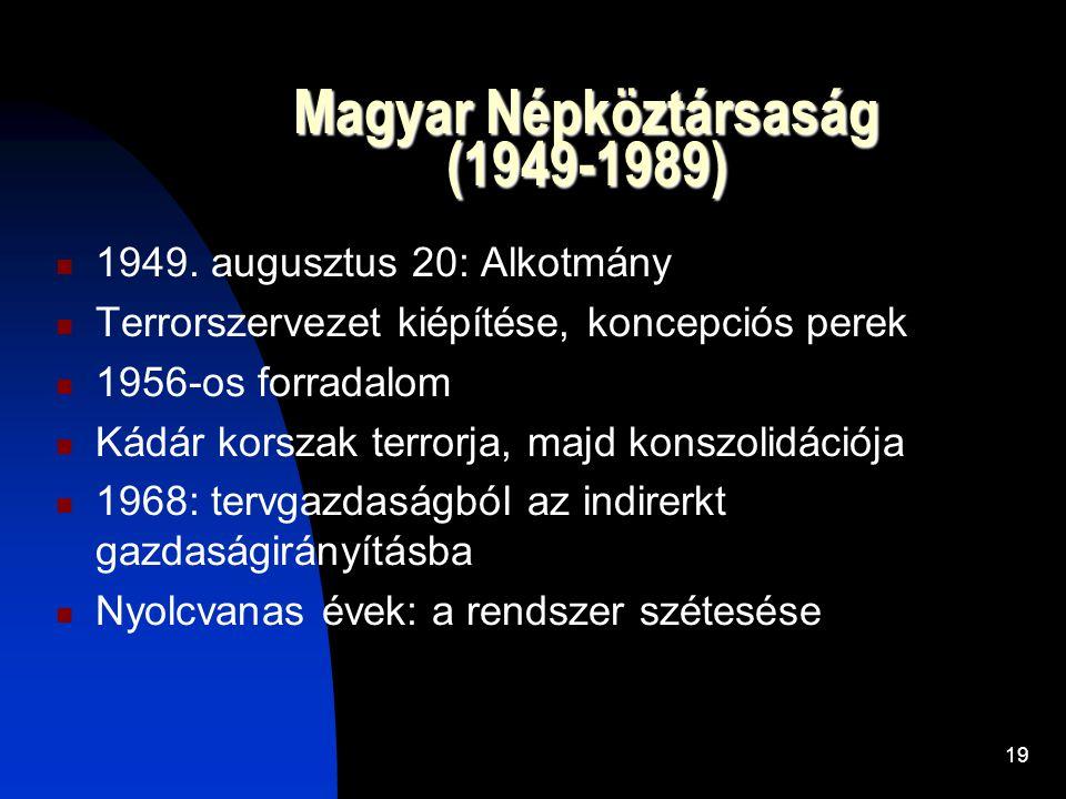 Magyar Népköztársaság (1949-1989)