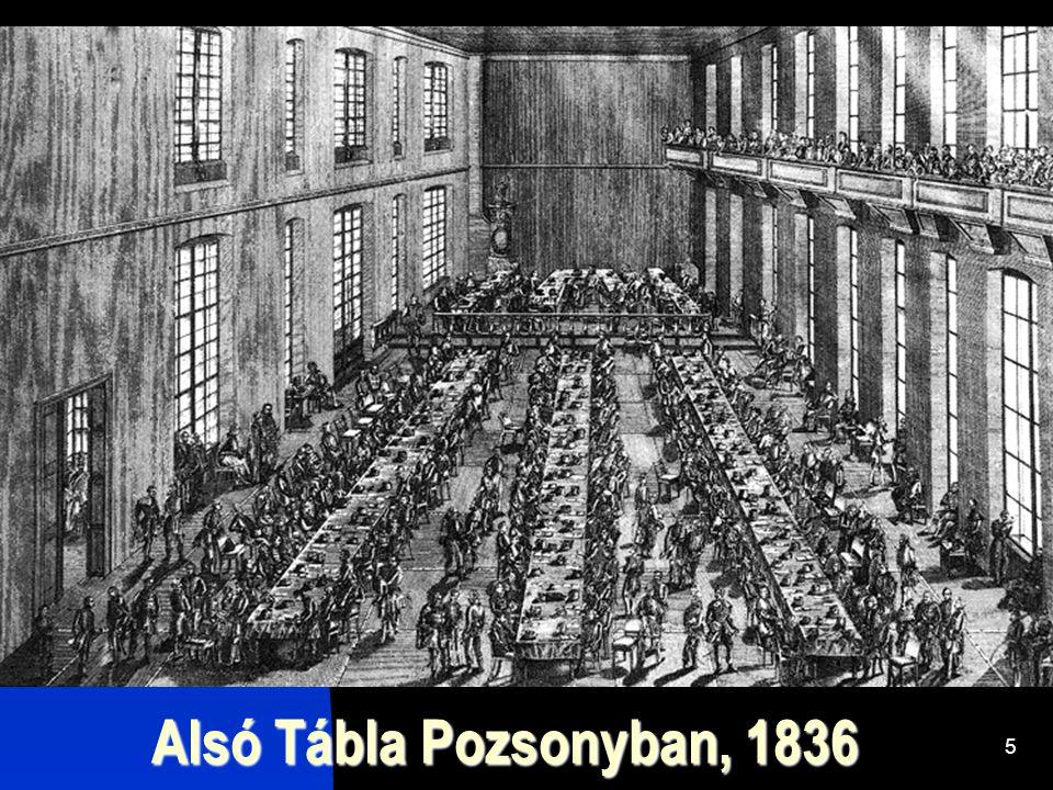 Alsó Tábla Pozsonyban, 1836