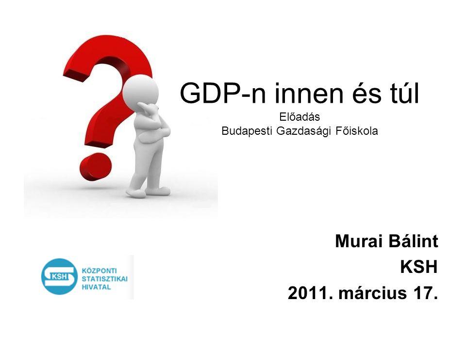 GDP-n innen és túl Előadás Budapesti Gazdasági Főiskola