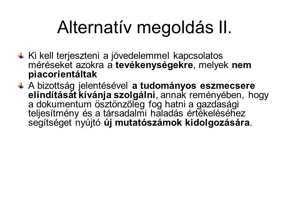 Alternatív megoldás II.