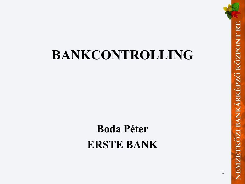 BANKCONTROLLING Boda Péter ERSTE BANK
