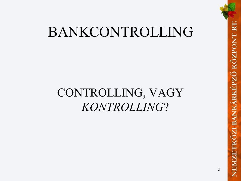CONTROLLING, VAGY KONTROLLING