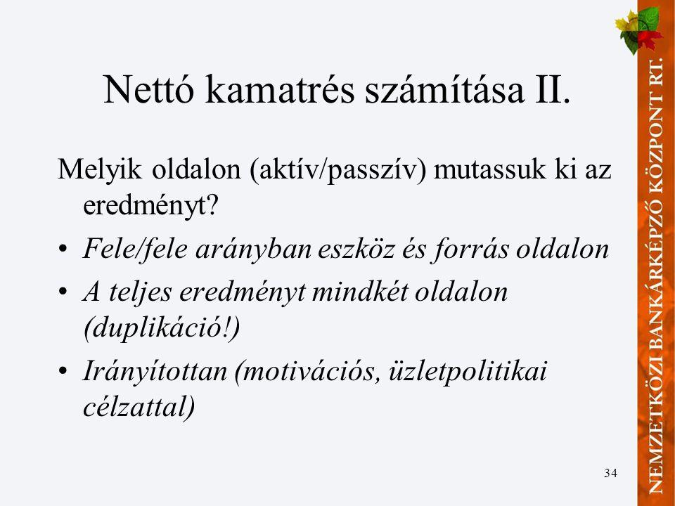 Nettó kamatrés számítása II.