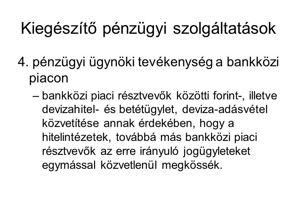 Kiegészítő pénzügyi szolgáltatások