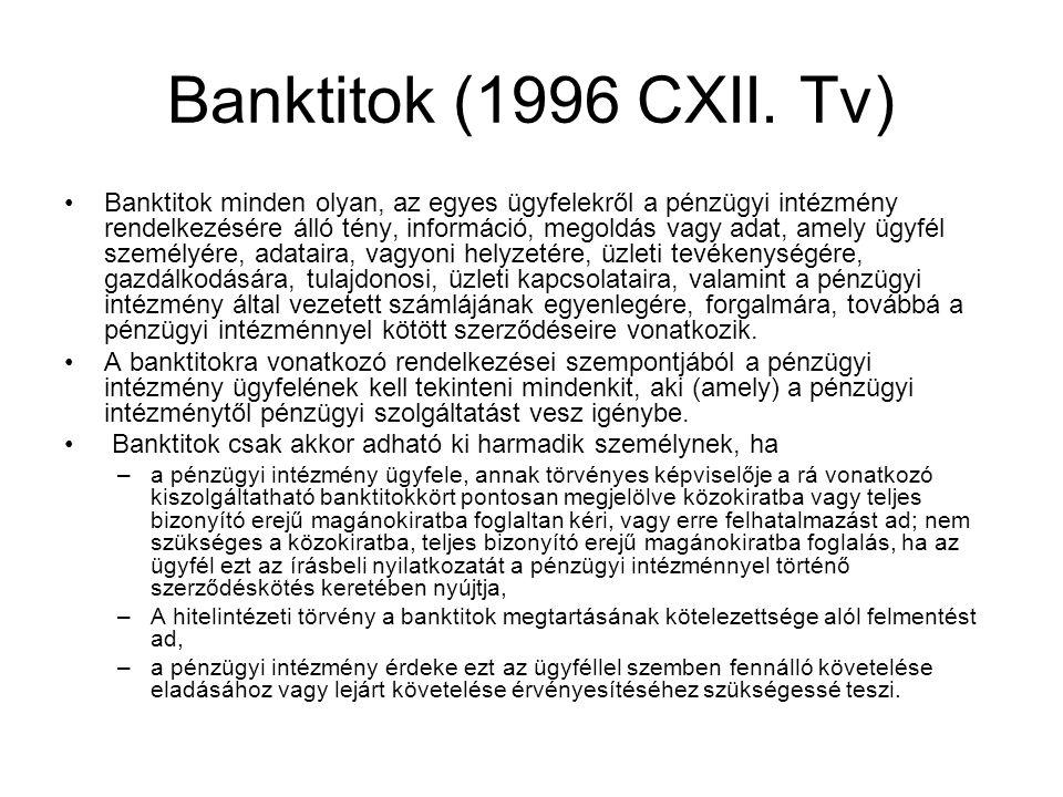 Banktitok (1996 CXII. Tv)