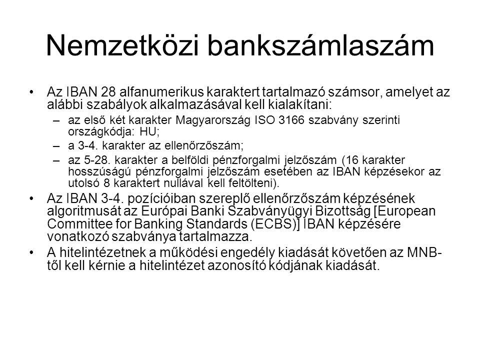 Nemzetközi bankszámlaszám