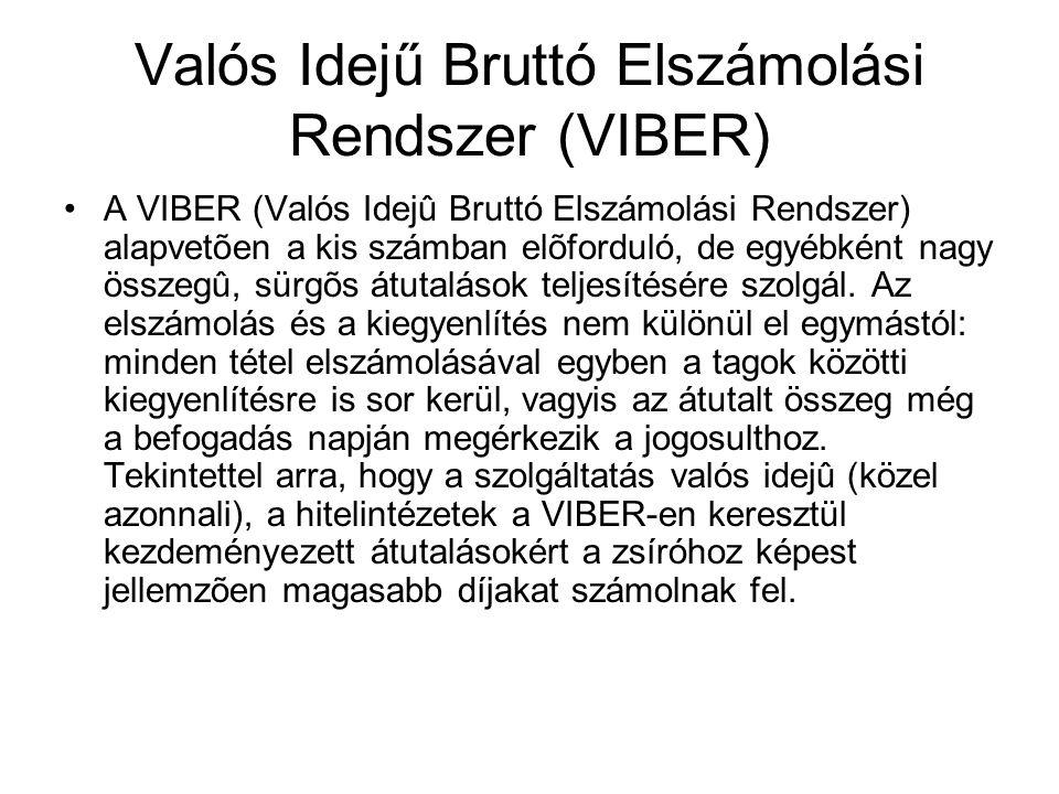 Valós Idejű Bruttó Elszámolási Rendszer (VIBER)