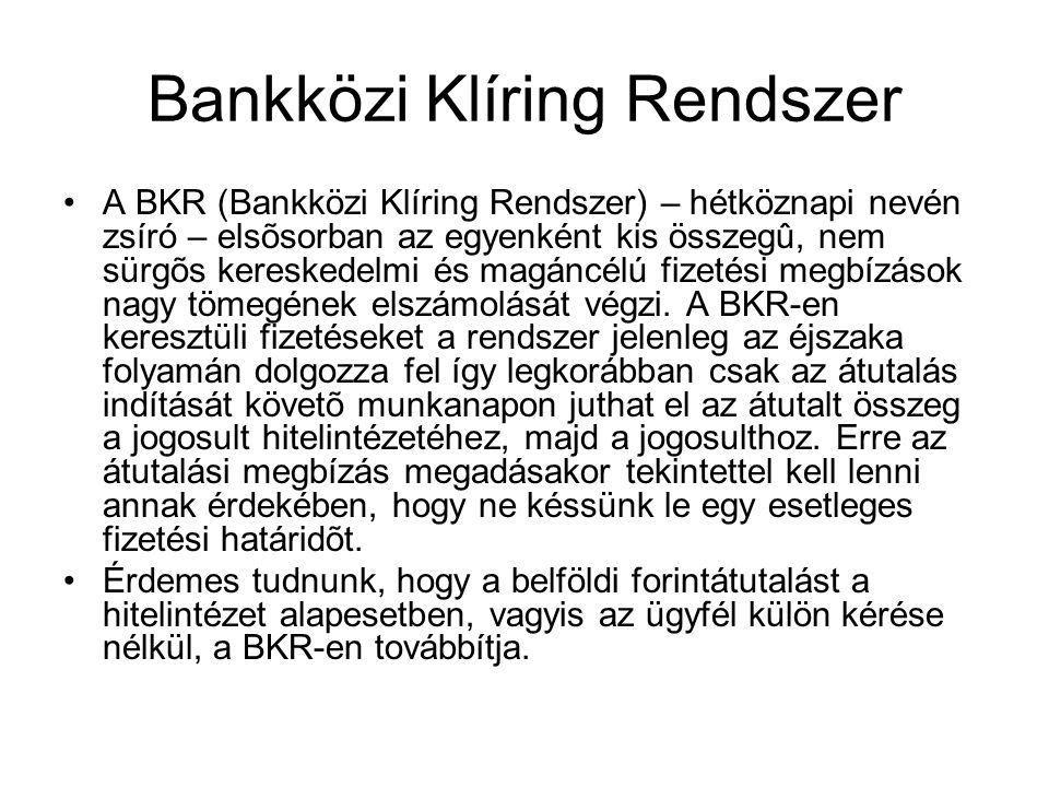 Bankközi Klíring Rendszer