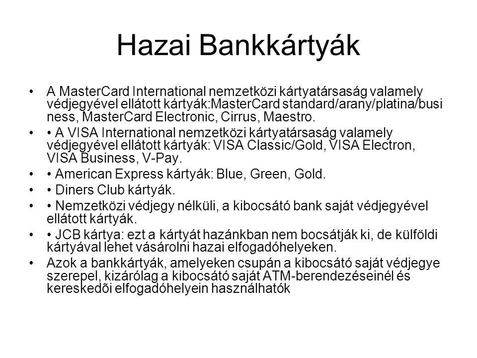 Hazai Bankkártyák