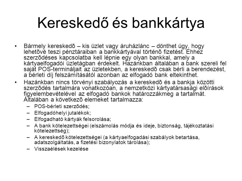 Kereskedő és bankkártya