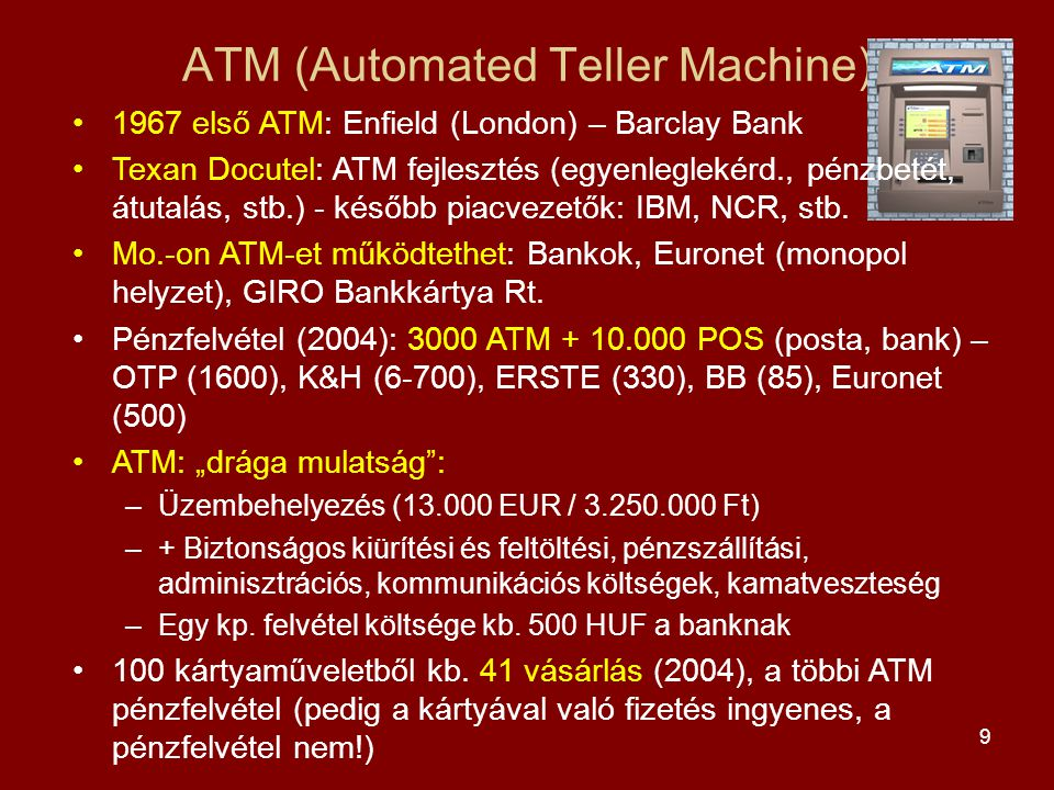 ATM (Automated Teller Machine)