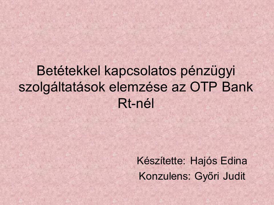 Készítette: Hajós Edina Konzulens: Győri Judit