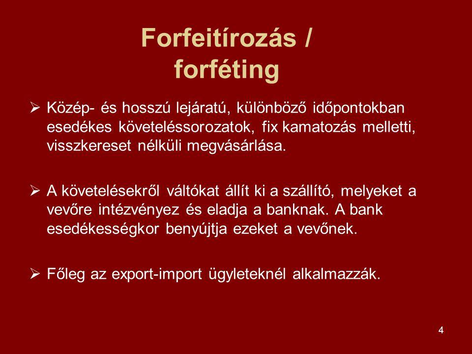 Forfeitírozás / forféting