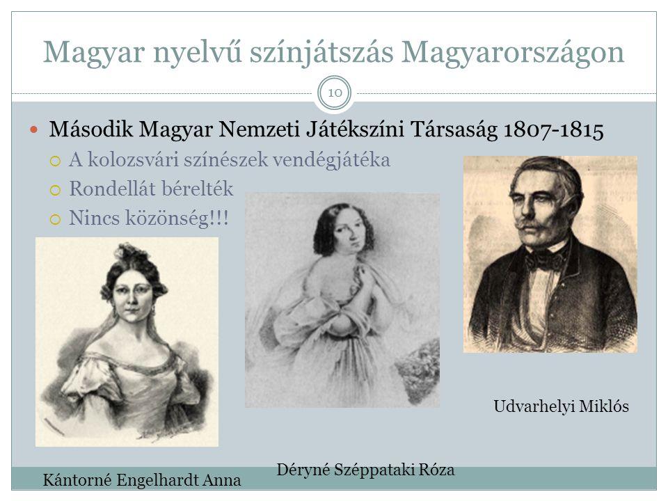 Magyar nyelvű színjátszás Magyarországon