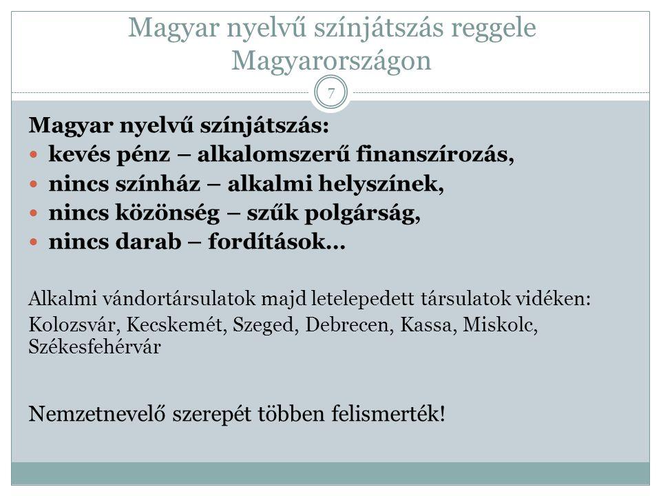 Magyar nyelvű színjátszás reggele Magyarországon