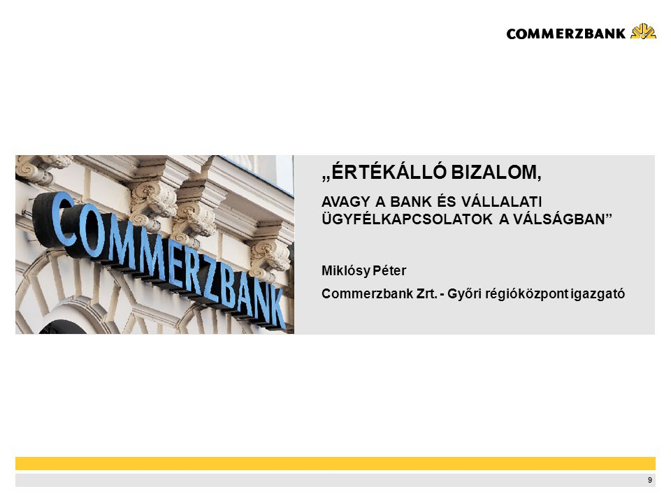 A Commerzbank a Világban