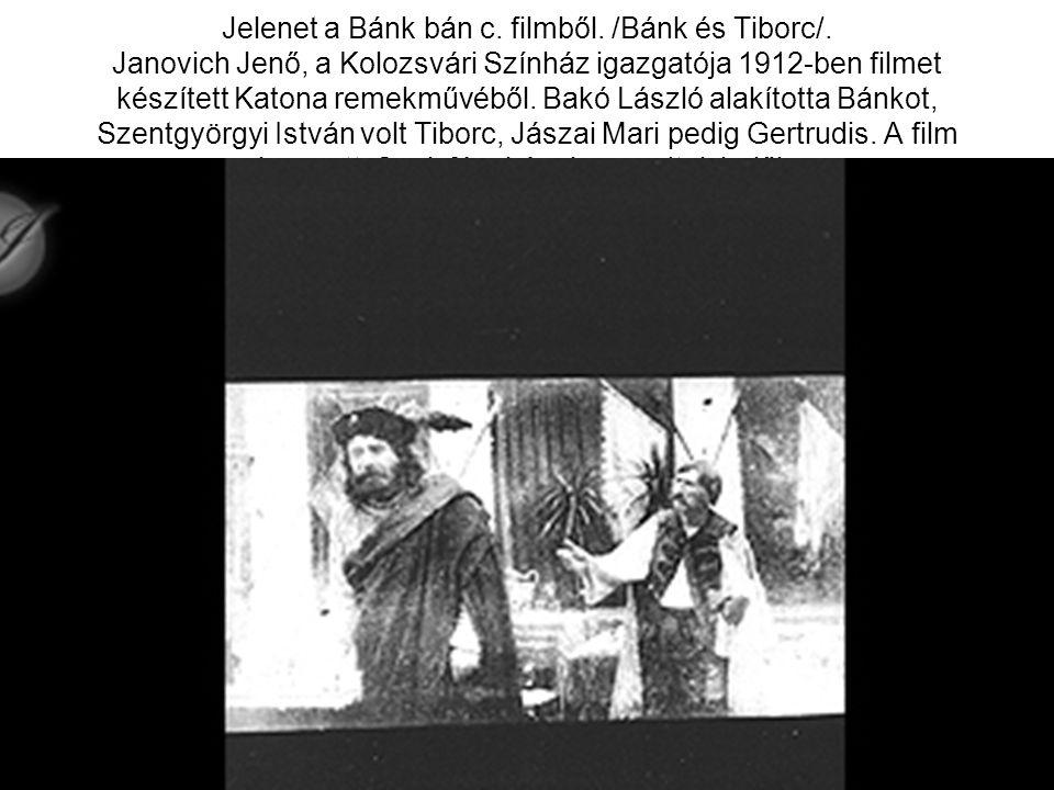Jelenet a Bánk bán c. filmből. /Bánk és Tiborc/
