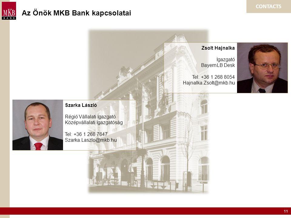 Az Önök MKB Bank kapcsolatai