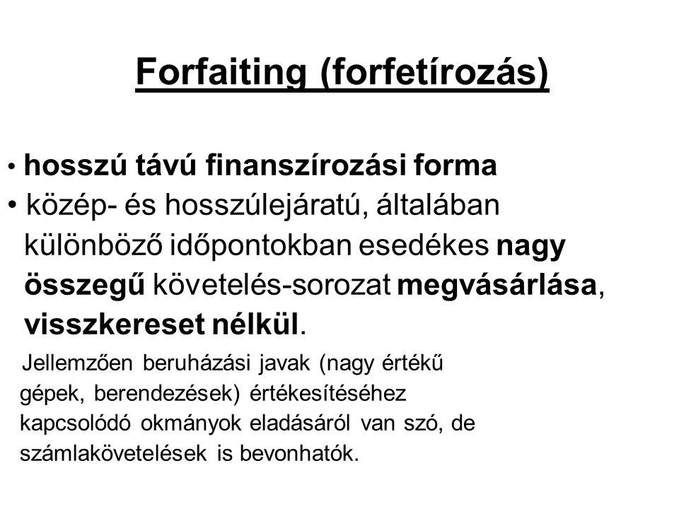 Forfaiting (forfetírozás)