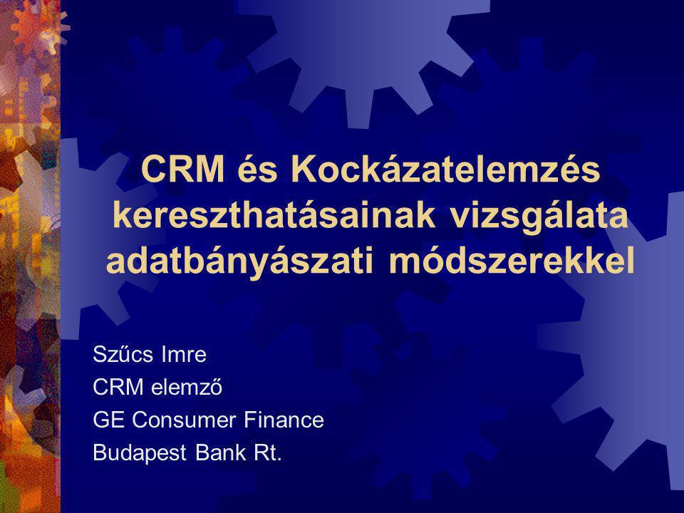 Szűcs Imre CRM elemző GE Consumer Finance Budapest Bank Rt.