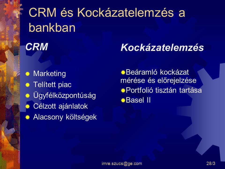 CRM és Kockázatelemzés a bankban