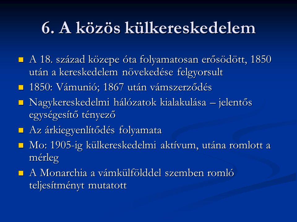 6. A közös külkereskedelem