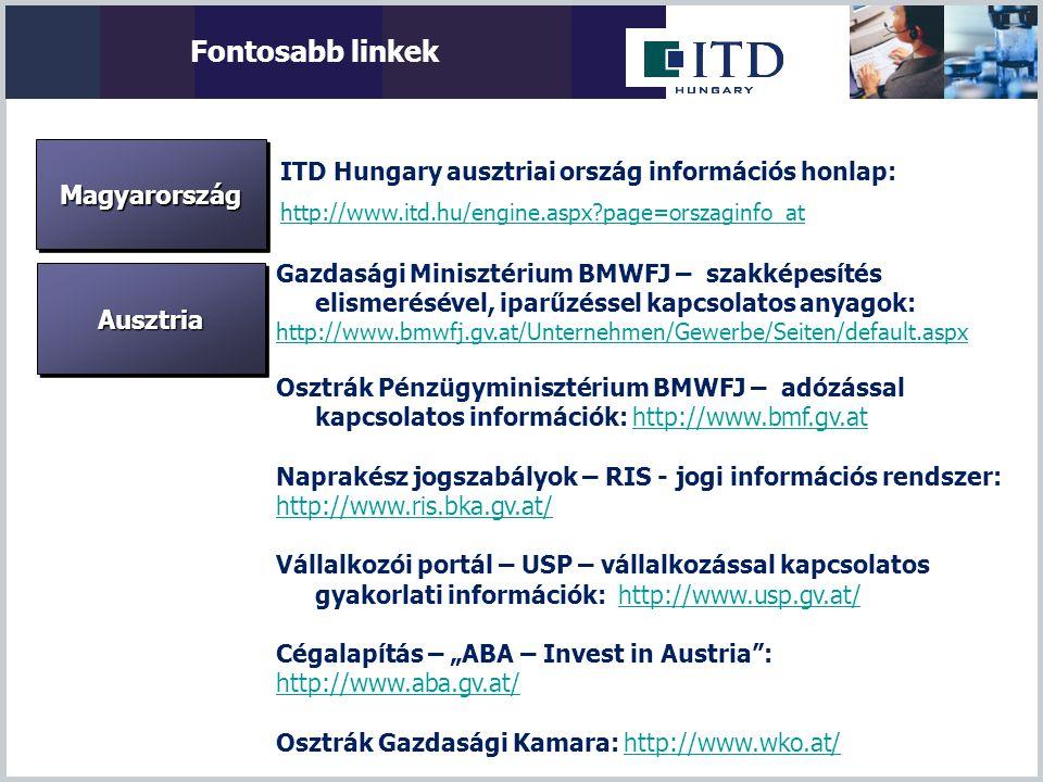 Fontosabb linkek Magyarország Ausztria