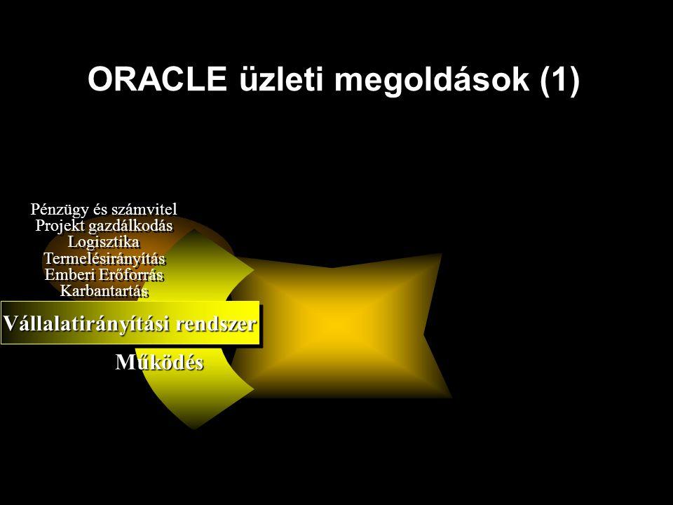 ORACLE üzleti megoldások (1)