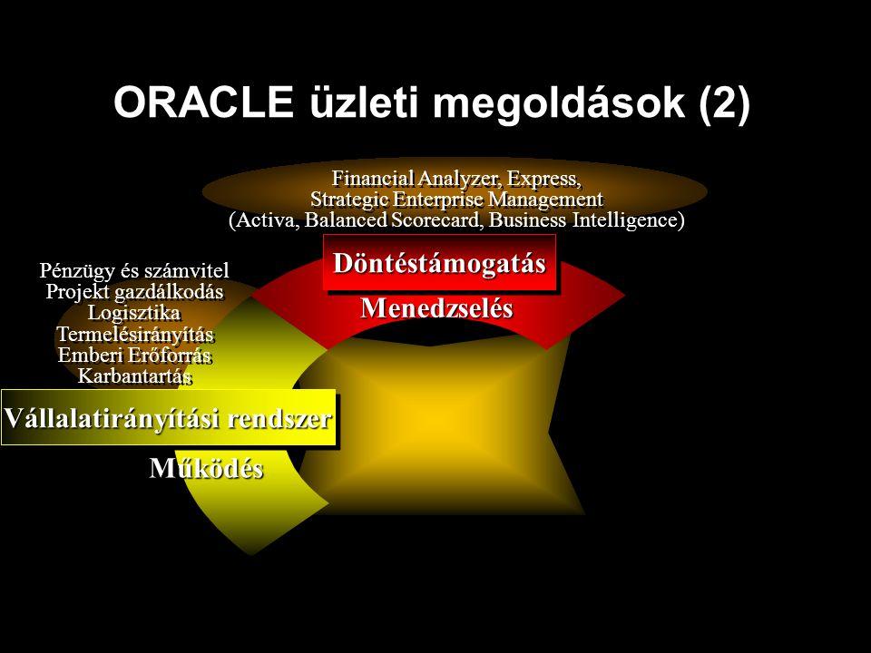ORACLE üzleti megoldások (2)