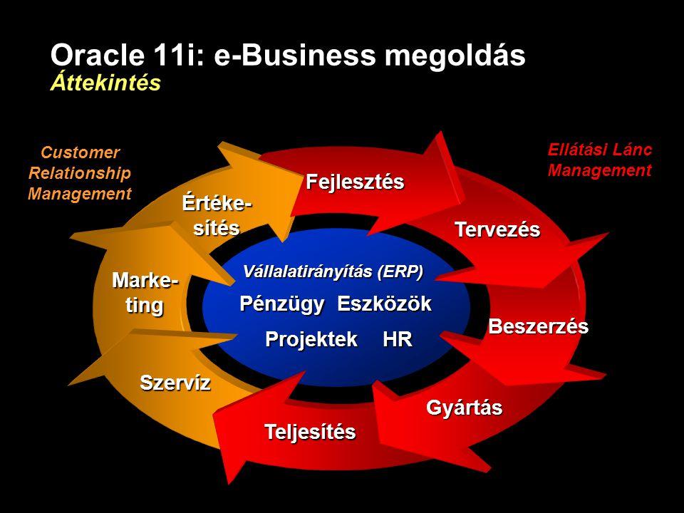 Oracle 11i: e-Business megoldás Áttekintés