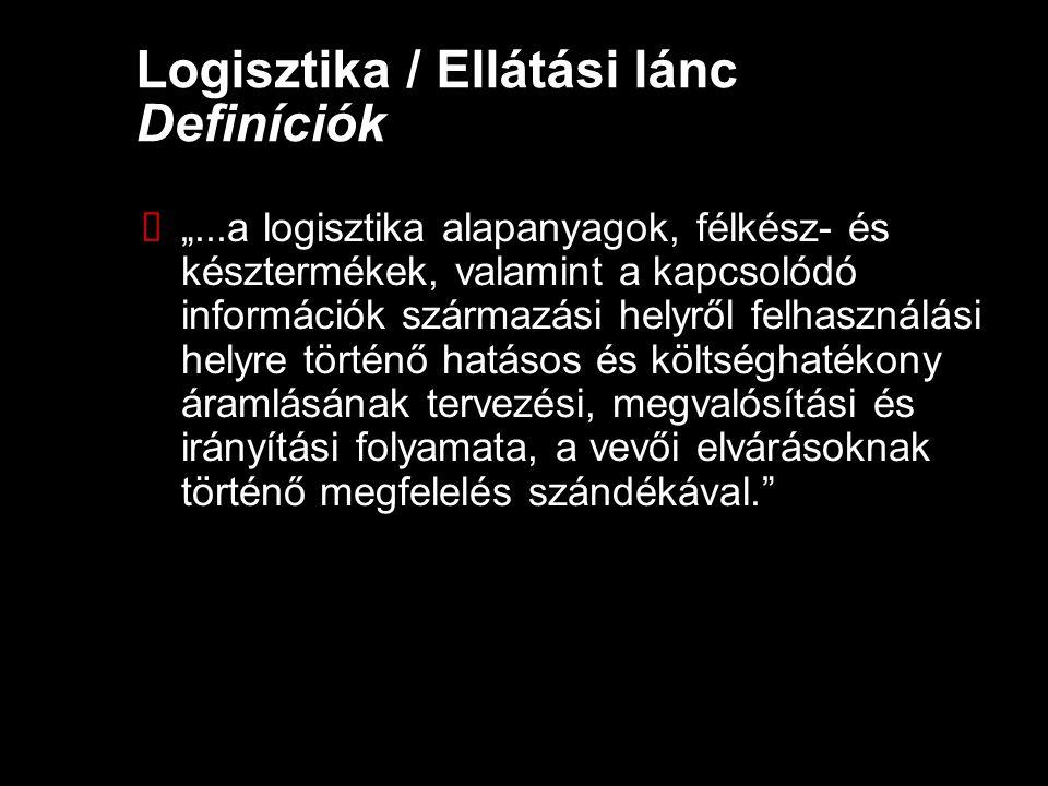 Logisztika / Ellátási lánc Definíciók