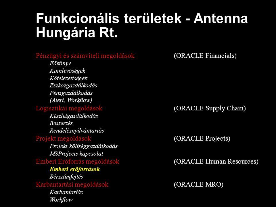 Funkcionális területek - Antenna Hungária Rt.