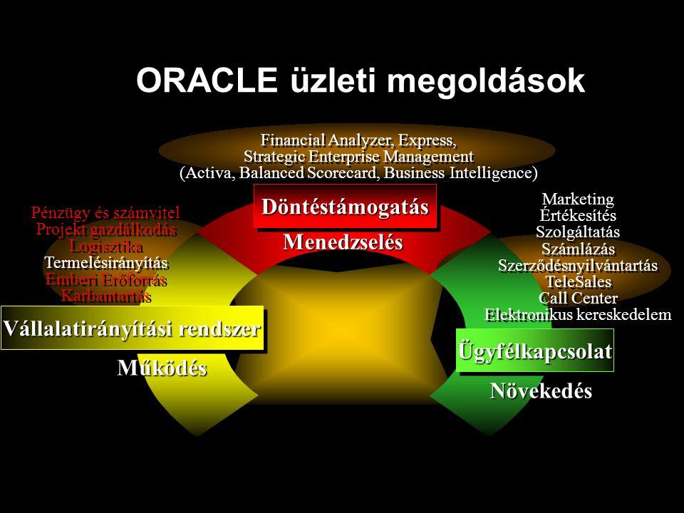 ORACLE üzleti megoldások