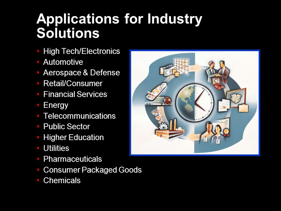 Applications for Industry Solutions