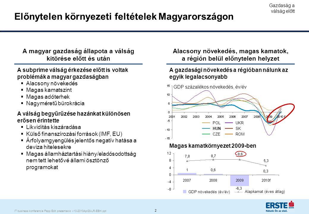 A válság egy stabil bankrendszert ért el, de néhány kritikus tényező megváltozott (pl.likviditás)