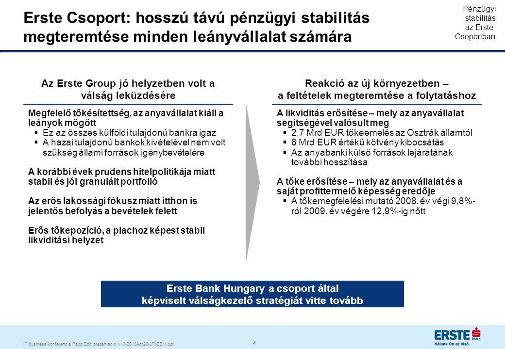 Erste Magyarország: válságot nem csupán kezeli, hanem kihasználja a lehetőségeket