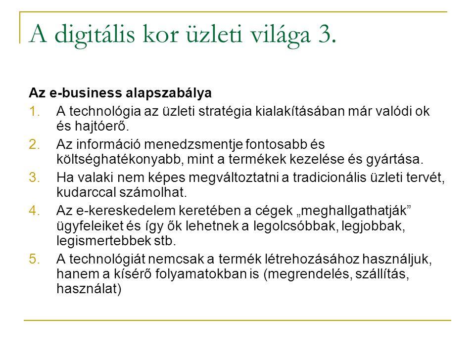 A digitális kor üzleti világa 3.