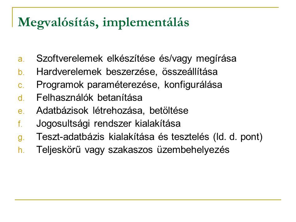 Megvalósítás, implementálás